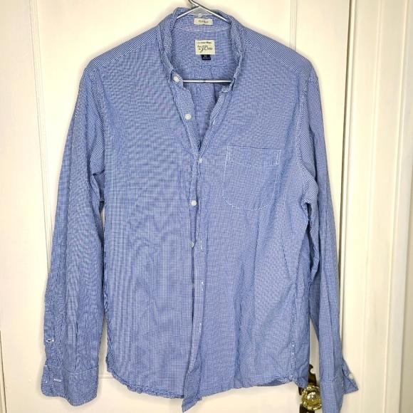 J Crew Classic Fit Cotton plaid Shirt